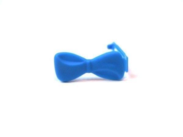 Strikjes - plastic groot per stuk blauw
