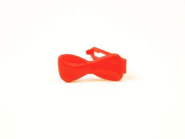 Strikjes - plastic groot per stuk oranje