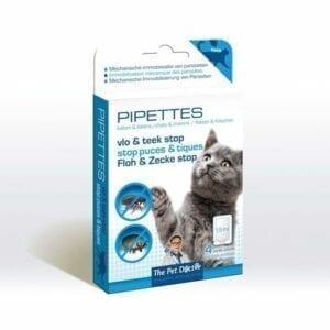 Pipettes Vlo en Teek Stop voor katten