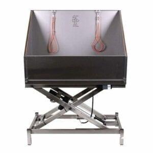 Elektrisch verst. Scissor bad met deur 120 x 60 cm. Hoge wand