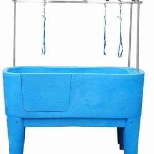 Kunststof bad, Doggy Groom, blauw