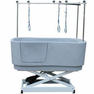 Electrisch verstelbaar Doggy Groom kunststof bad groot + beugel grijs