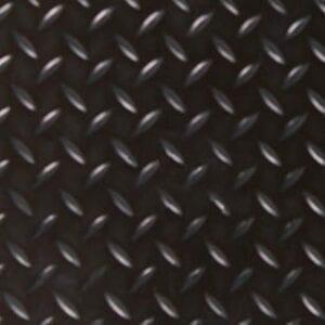 Rubber Traanmotief zwart 100 cm. x 150 cm.